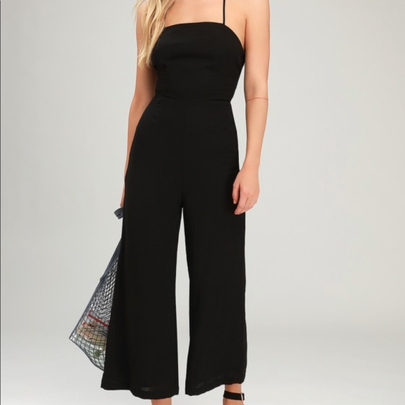 love, Fire Other - NWT Love, Fire Wide Leg Jumpsuit Criss Cross front